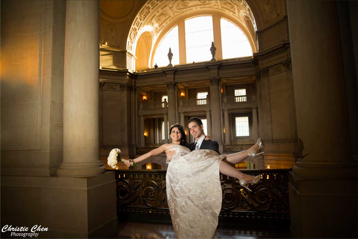 SF city hall wedding photographer