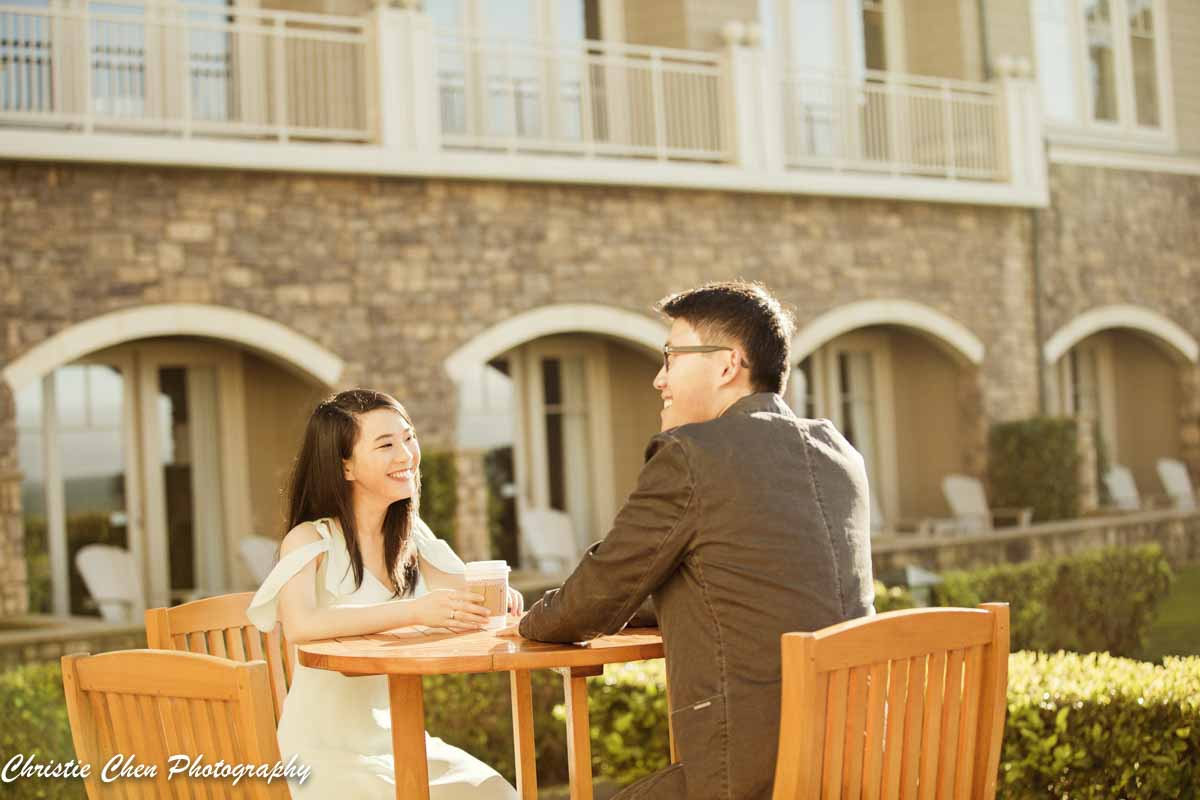 Ritz Carlton  Half moon bay engagement