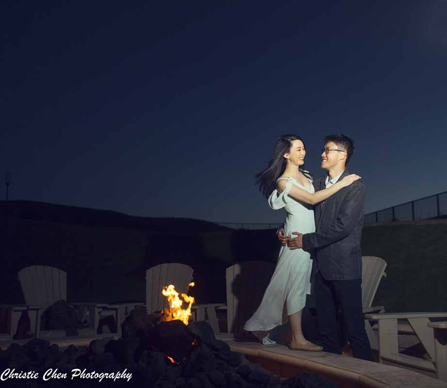 ritz carlton Half moon bay engagement photographer